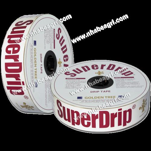 Dây tưới nhỏ giọt SuperDrip 16mm, k/c lỗ 40cm, dày 0.63mm, 600m/cuộn.